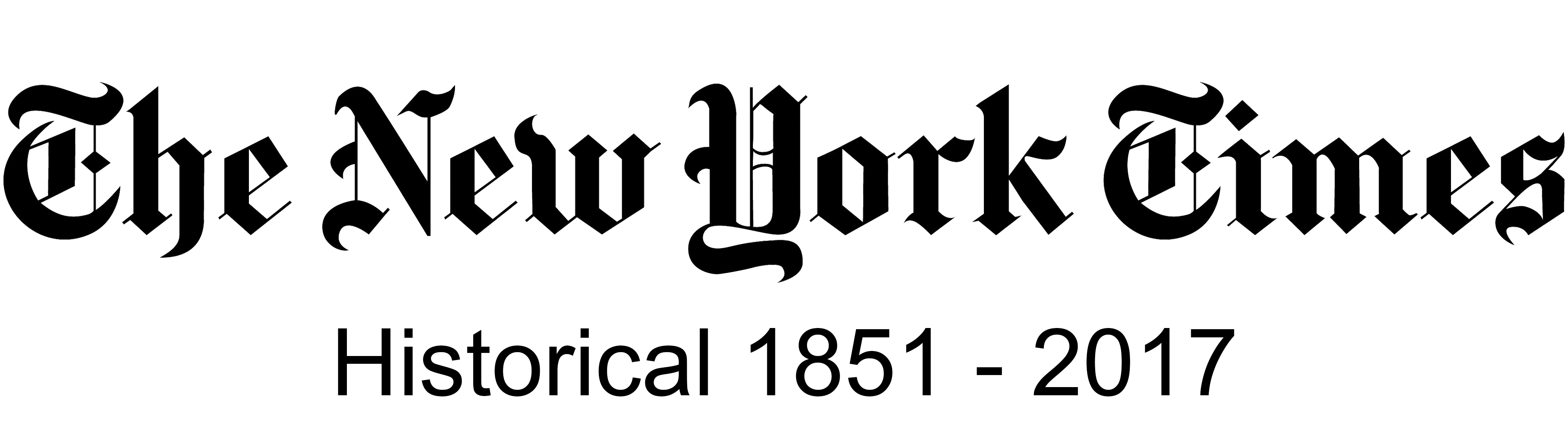 New York Times Historical, 1851-2017