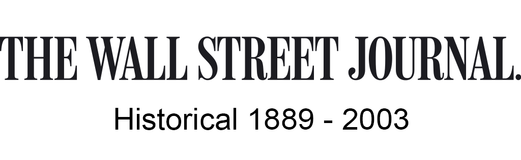 The Wall Street Journal Historical, 1889-2003